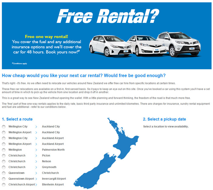 Screenshot thrifty car rental